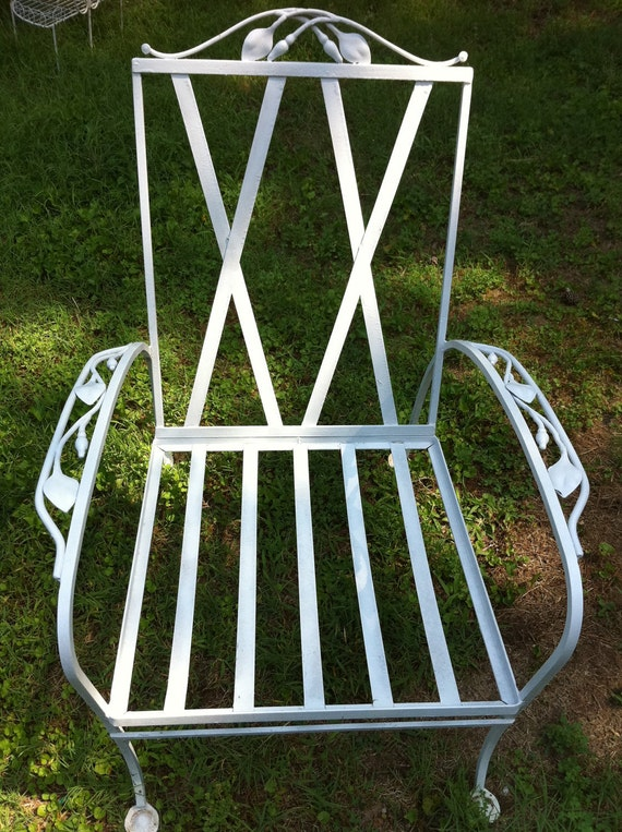 Sale vintage wrought iron patio chair - Vintage wrought iron chairs ...