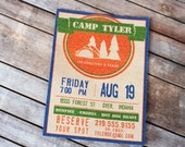 15 Personalized Invitations CAMPING Theme Camp Flyer
