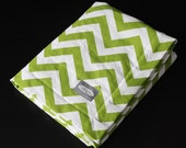 Baby Blanket - Lime Green Zigzag