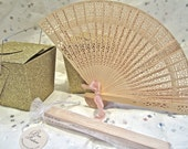 Natural Wood Fans Wedding Favors