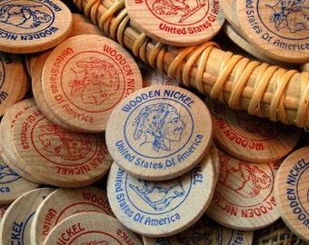 Buffalo Indian Head Wooden Nickels