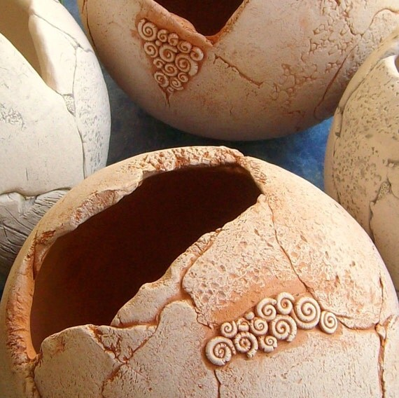 Sphere terracotta garden