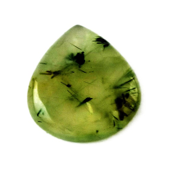Prehnite Drop Cabochon Stone (28mm x 25mm x 6mm) 35cts