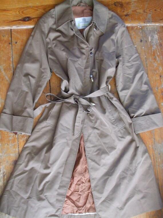Vintage Aquascutum cotton raincoat mac M / L