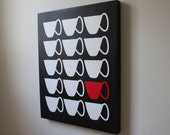 "Custom Listing for Christina Diamantopoulos: Stretched Canvas Print 16x20 ""Tea Cups"""