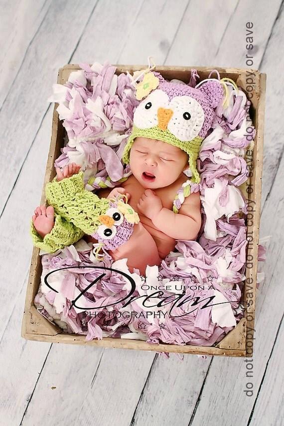 Newborn Photo Prop, Baby Owl Hat and Leg Warmers, Newborn Owl Hat and Leg Warmers, Crochet Owl Hat, Baby Animal Hat, Baby Shower Gift