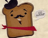 French Toast embroidered baby bib