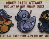 Rubber Ducky Embroidered Patches by Morning Tempest
