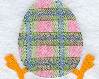 """Easter egg """"Plaid """" Embroidered baby bib"""
