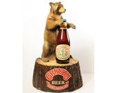 Grizzly Beer ,Grizzly Bear,Authentic Canadian Lager Beer Bar Advertising Display, Offbeat Vintage for Your Bar, Men Decor or Eclectic Decor