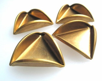 Large Brass Folded Triangles