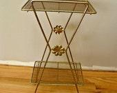 Vintage Brass Plant/Bathroom Stand