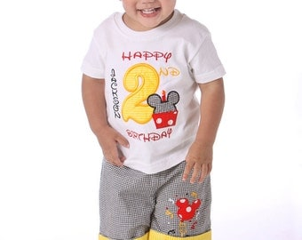 Overalls Personalized Birthday Boy Shirt by SmashingCupcakes