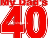 lot 3 My Dads 40 iron-on shirt transfers