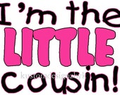 Lot of 3 Cousin iron-on shirt decals These make great little gifts