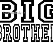 Lot of 5 Big or Little Brother or Sister sibling shirt decals
