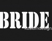 Bride wedding iron-on shirt decal transfer