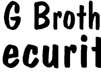 Big Brother Security iron-on shirt decal NEW by kustomdesignzbyk