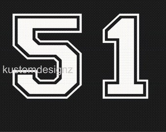 """6"""" number, personalized jersey, soccer baseball football, Number double-digit iron-on shirt decal transfer, team transfers, custom number"""