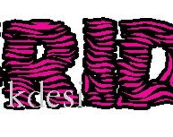 zebra Bride iron-on shirt decal NEW by kustomdesignzbyk