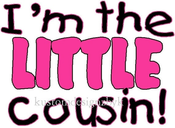 Little Cousin iron-on shirt decal NEW by kustomdesignzbyk