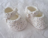 Beautiful Handmade Floral Baby Booties flowers in ONE color 100% edible cake fondant topper
