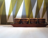 Hornsea Pottery 1960's-70's set of 4 Egg Cups