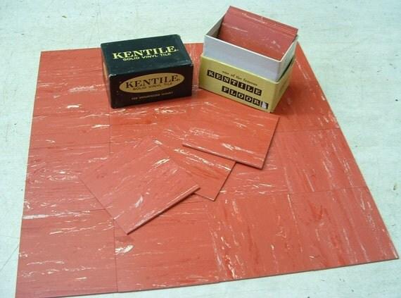 Vintage Vinyl Tile Samples Box 24 Pcs 3 X 3 Provincial