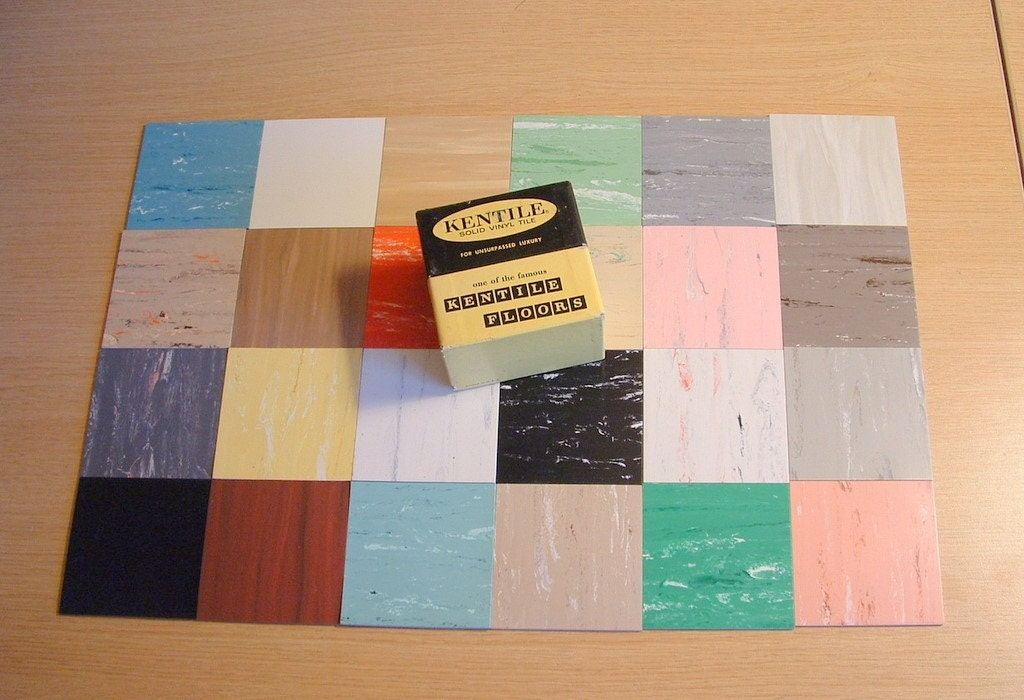 vintage solid vinyl tile 3 x 3 samples box 24 pcs