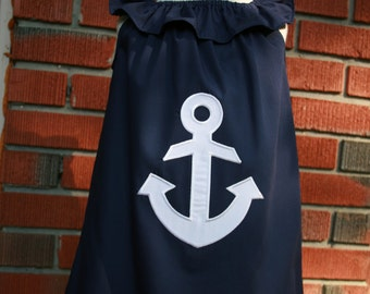 Sweet little Girl's Anchor Dress. Size 5