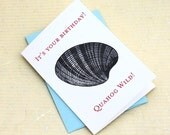 Funny Birthday Card for New Englanders, Quahog Wild, Nautical Birthday Card