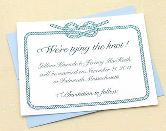 Tying the Knot Save the Date for your Nautical Wedding