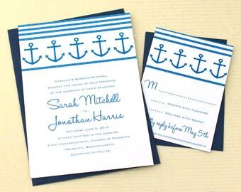 Anchor Wedding Invitations, Nautical Wedding Invitation,  boat wedding, destination wedding, Sea wedding, Ocean wedding, Yacht wedding