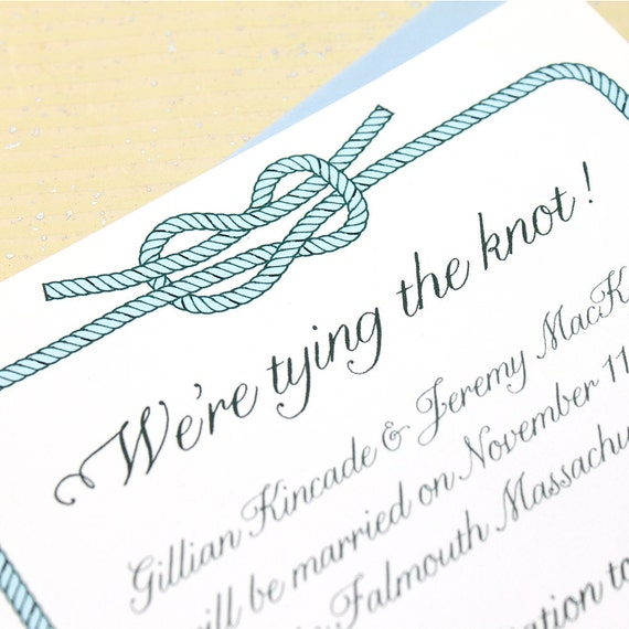 Tying the Knot Save the Date, Beach Save the Dates, Nautical Save the Dates, Aquarium Save the Date Cards