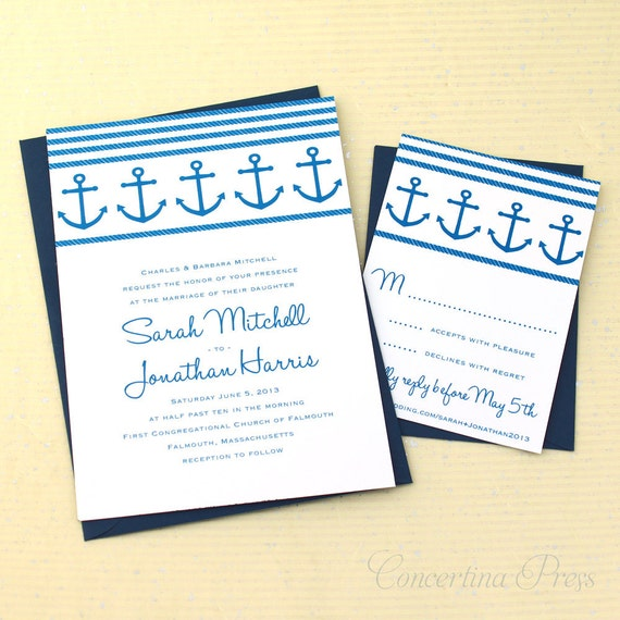 Anchor Wedding Invitations For Your Nautical Wedding