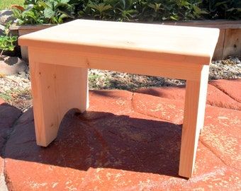 12 Inch Tall Step Stool Unfinished