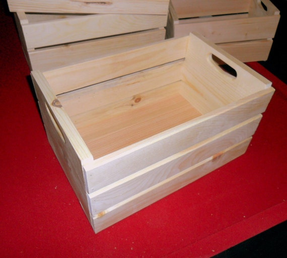 New Unfinished Half Bushel Wooden Storage Crate