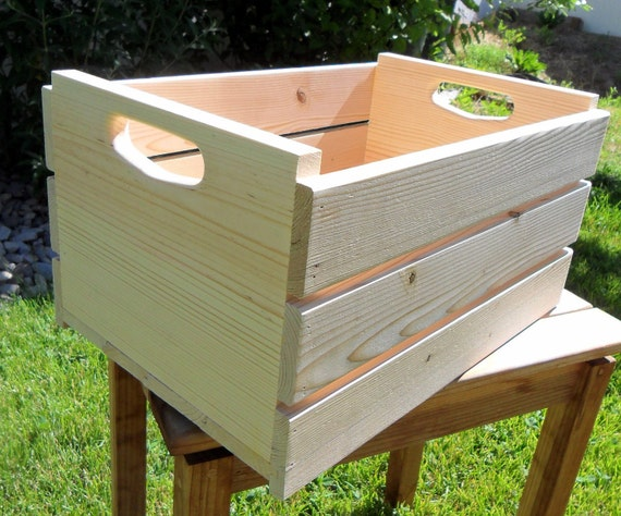 Items similar to half bushel unfinished wooden fruit crate for Wooden fruit crates
