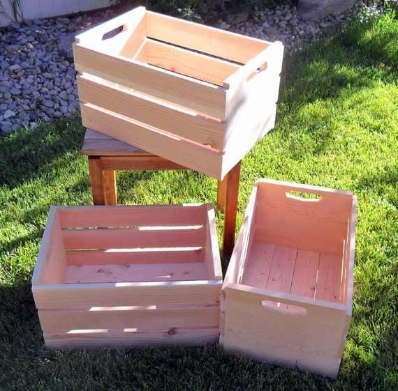 New Unfnished Bushel Wooden Storage Crate