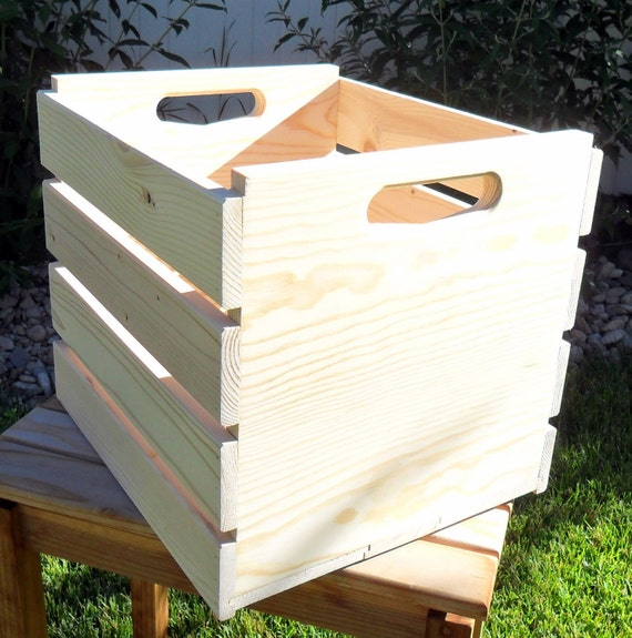 New Unfinished Wooden Milk Crate