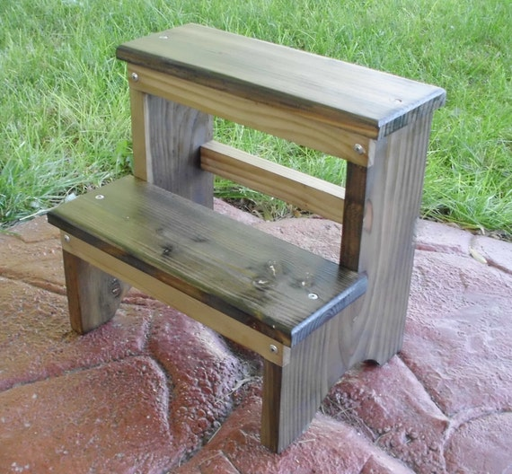 shabby chic step stool by emmersonwoodworks on etsy. Black Bedroom Furniture Sets. Home Design Ideas