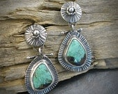 Southwestern Style Turquoise & Silver Earings