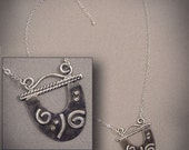 Sterling Silver & Black Necklace