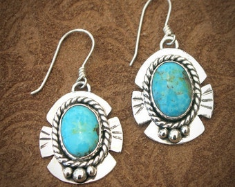 Southwest Style Turquoise Earrings