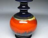 vintage HUTSCHENREUTHER RENÉ NEUE pottery vase fat lava eames era mid century modern