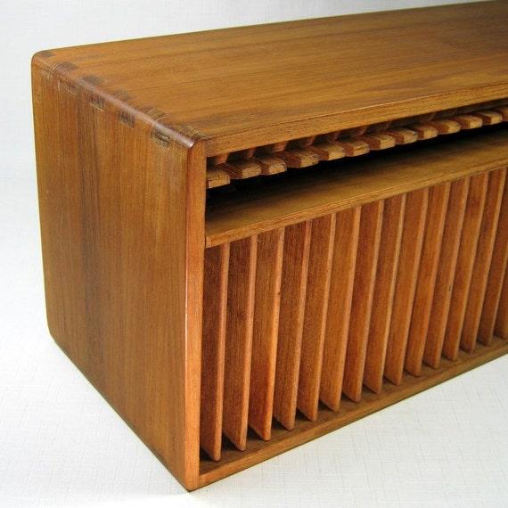 Vintage Kalmar Teak Cd Holder Tail End Of Mid Century Modern