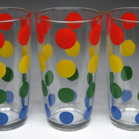 Zenni Optical Polka Dot Glasses : vintage HAZEL ATLAS polka dot glasses possibly sour cream