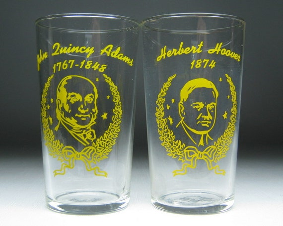 set of 18 vintage LIBBEY president glasses swanky swig collectable