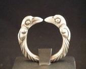 Viking Ring Odin Raven in Sterling Silver torc