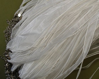 "Organza Silk Ribbon Necklace 18""-10pcs."
